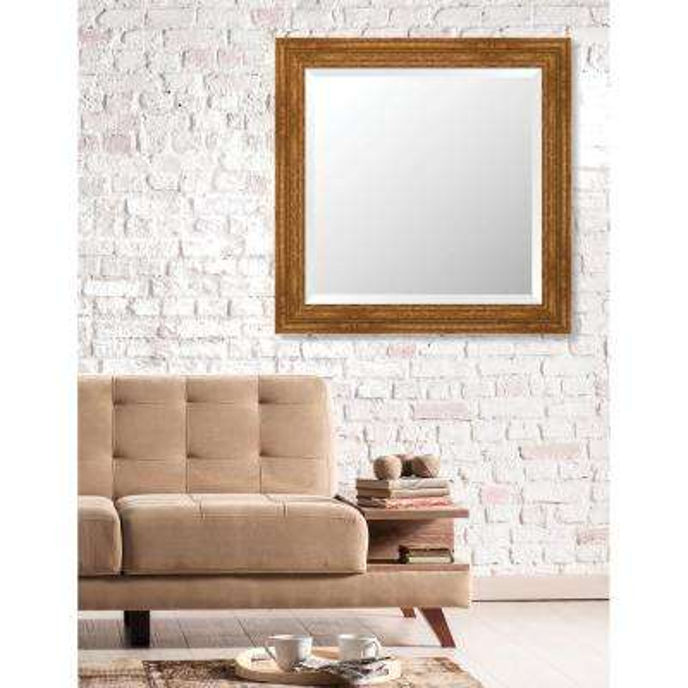 Langdon 29.625 in. x 29.625 in. European Wide Framed Bevel Mirror