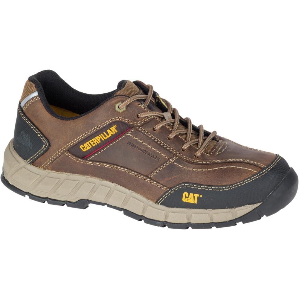 b4485a61aeee3 CAT Footwear Streamline Leather Men's Size 10-1/2W Dark Beige Work ...