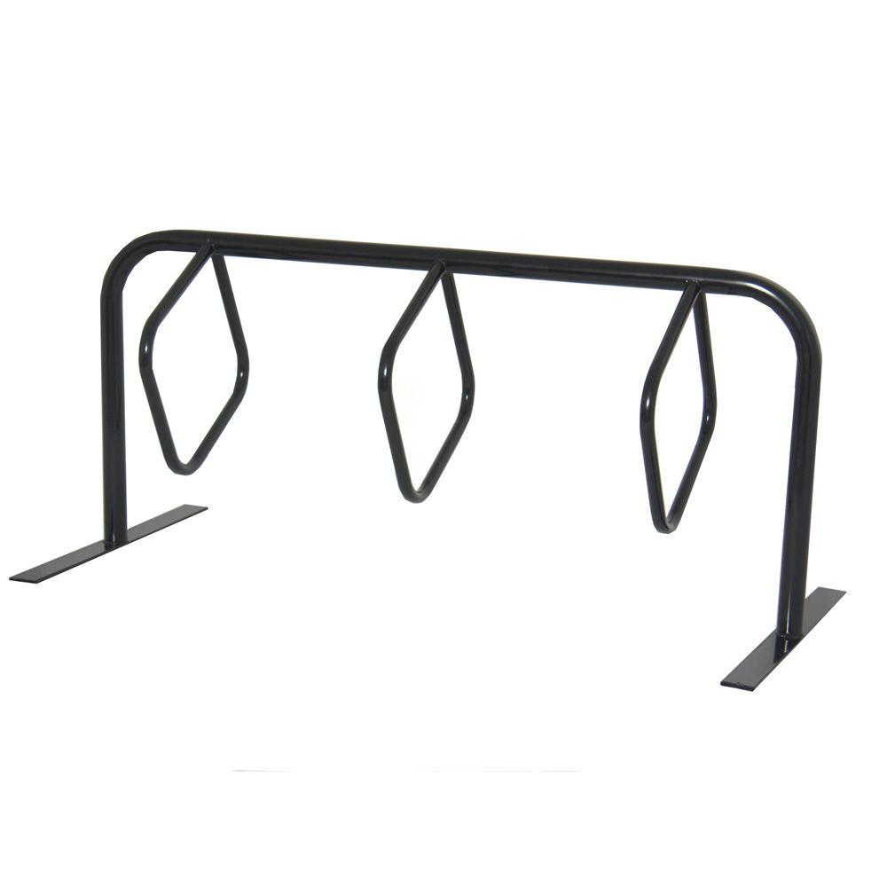 Ultra Play 6 ft, 3-Loop Commercial Surface Mount Hanger Bike Rack