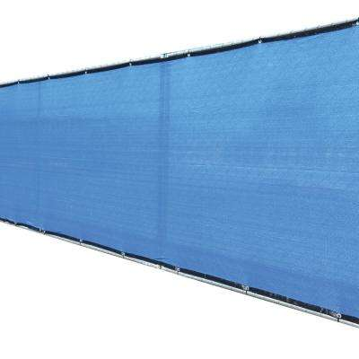 58 in. x 50 ft. Blue Privacy Fence Screen Plastic Netting Mesh Fabric Cover with Reinforced Grommets for Garden Fence