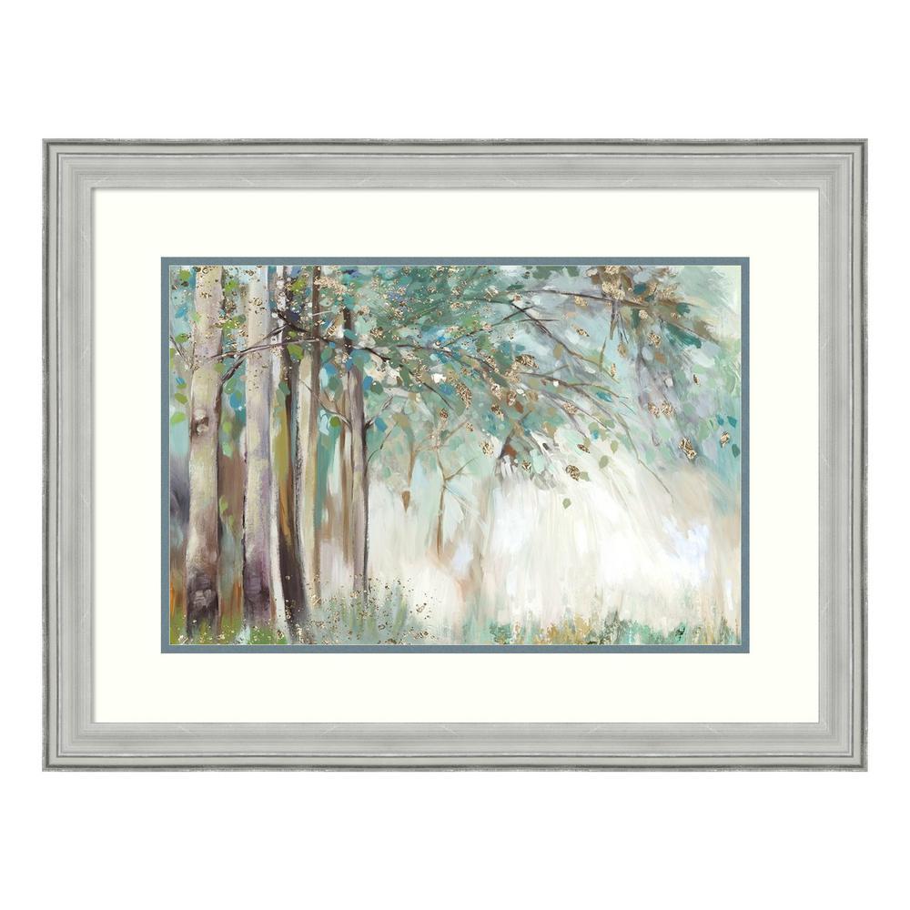 """Silver Leaves"" by Allison Pearce Framed Wall Art"