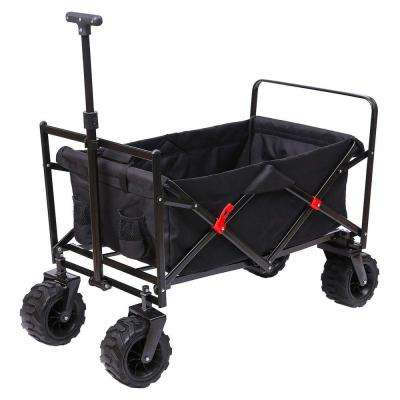 7 cu. ft. Steel Outdoor Folding Wagon in Black