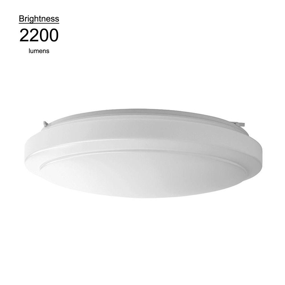 Hampton bay 20 in bright white round led flushmount ceiling light hampton bay 20 in bright white round led flushmount ceiling light fixture dimmable aloadofball Choice Image