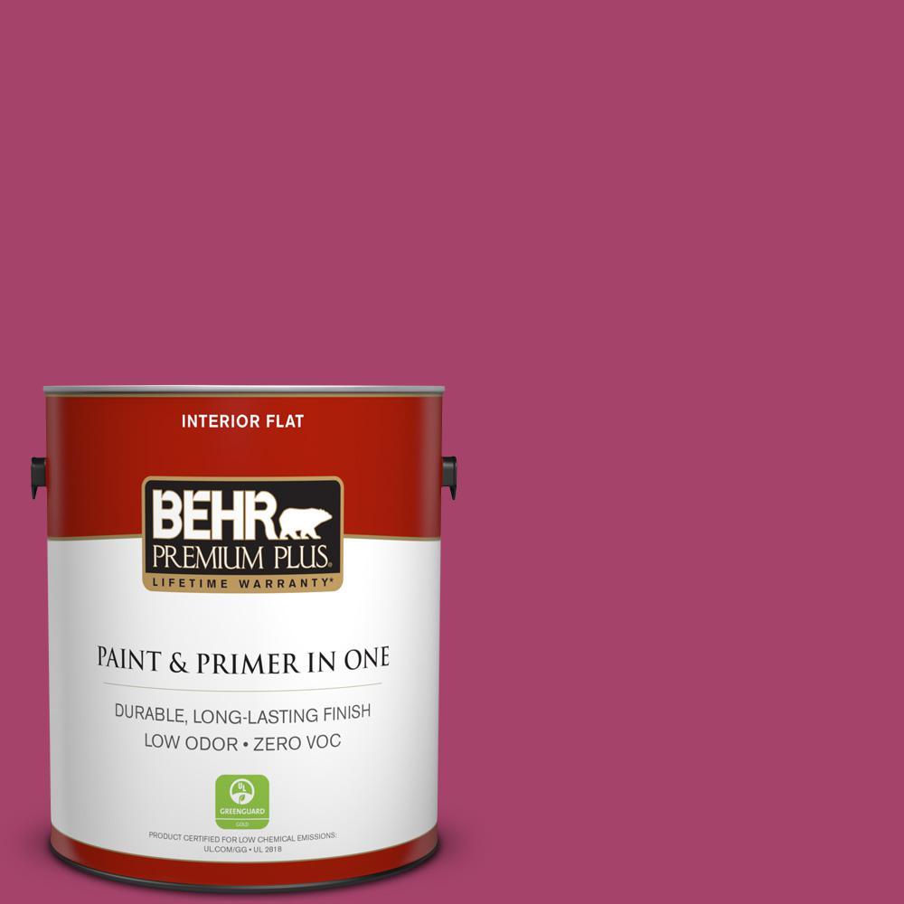 BEHR Premium Plus 1-gal. #HDC-SM14-1 Fuschia Flair Zero VOC Flat Interior Paint