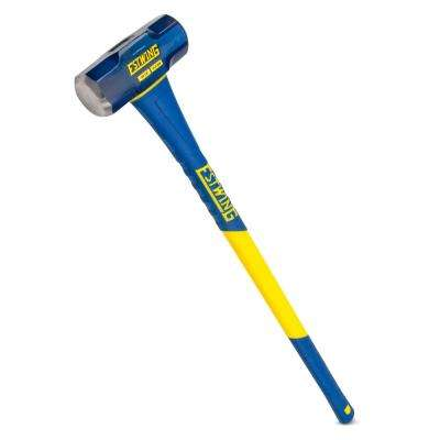 10 lbs. Hard Face Sledge Hammer with 36 in. Fiberglass Handle