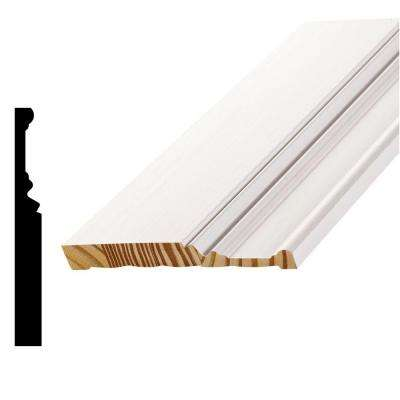 WP 20 11/16 in. x 6 in. x 96 in. Primed Pine Finger-Jointed Base Moulding