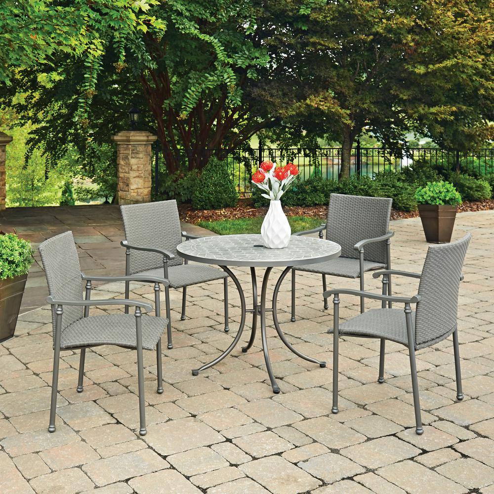 Umbria 5-Piece Concrete Outdoor Dining Set