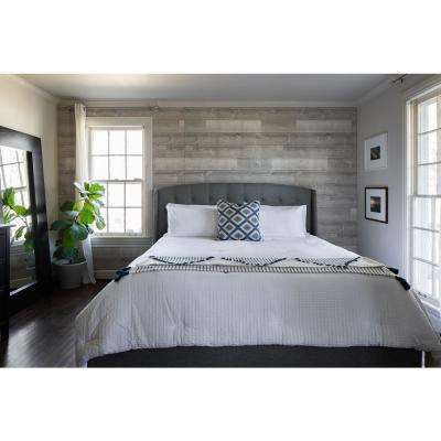 1/4 in. x 48 in. x 96 in. Coastal Ivory Wood Shiplap Panel