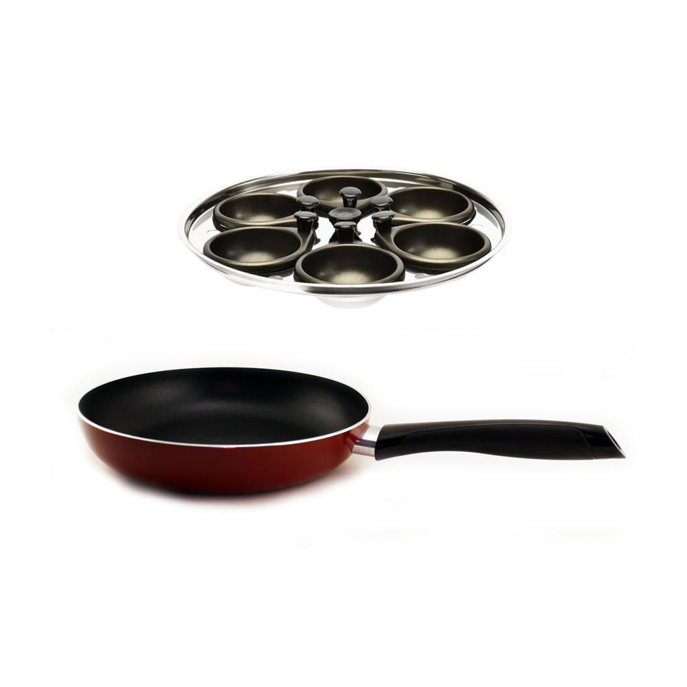 BergHOFF 8-Piece Egg Poacher and Fry Pan Set 2212133