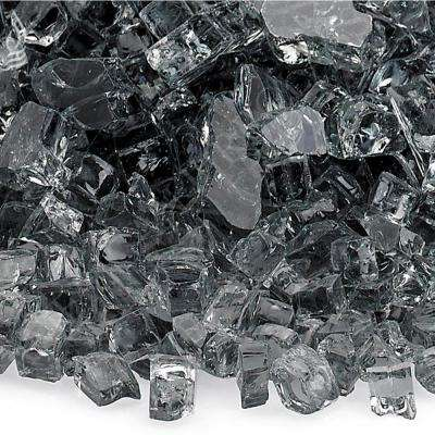 1/4 in. Gray Fire Glass 10 lbs. Bag