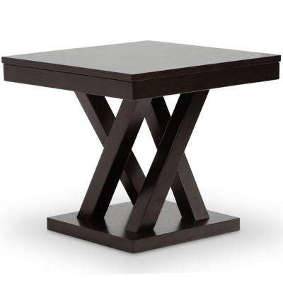 Everdon Dark Brown End Table