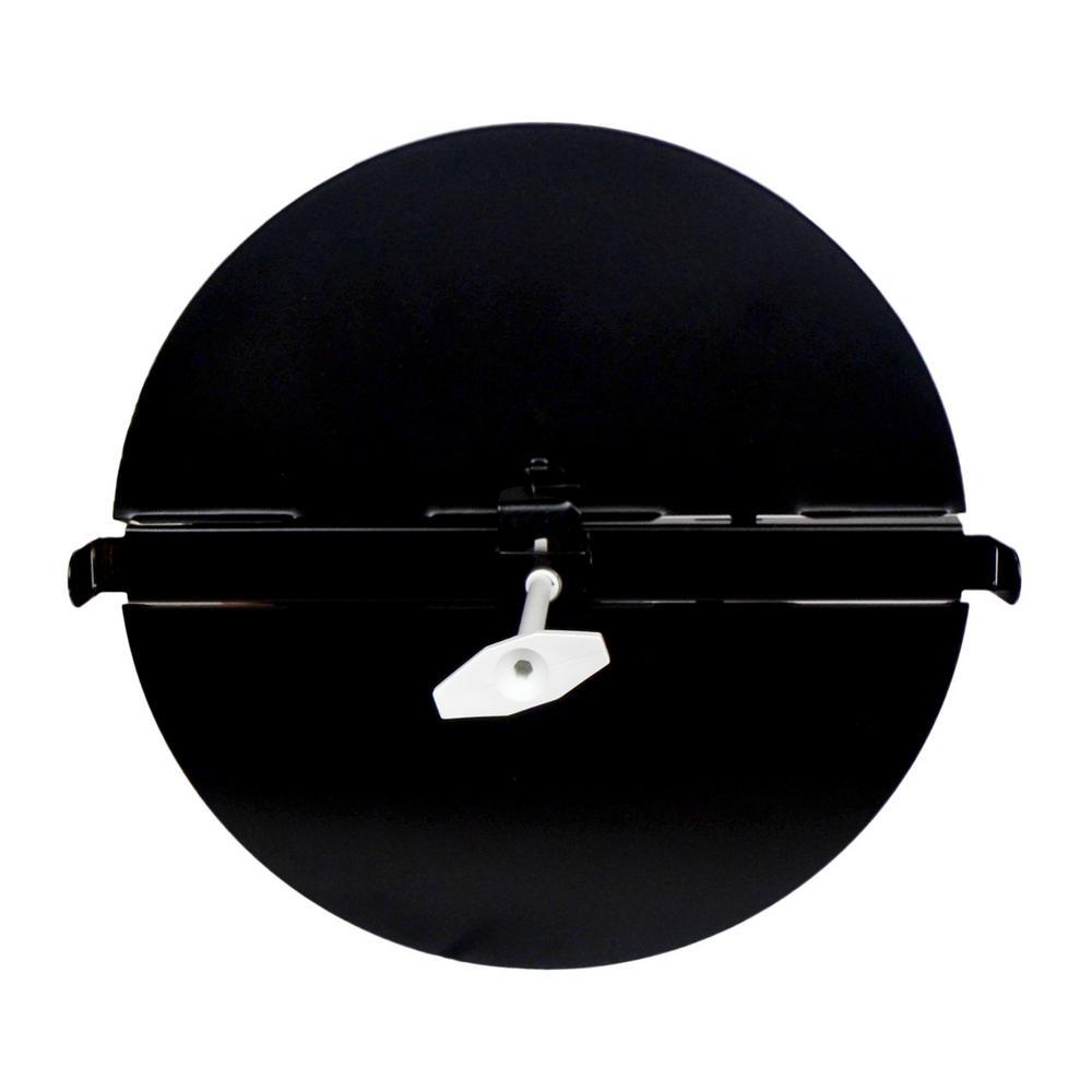 6 in. Black T-Bar Butterfly Damper Steel Diffusers
