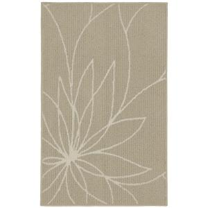 Garland Rug Grand Floral Tan/Ivory 2 ft. 6 inch x 3ft. 10 inch Accent Rug by Garland Rug