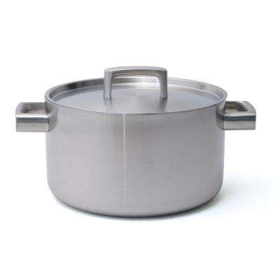 Ron 6.4 Qt. 5-Ply Stainless Steel Stock Pot with Lid