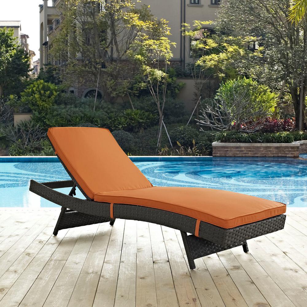 remarkable outdoor chaise lounge   Home Decorators Collection Ridge Falls 1-Piece Aluminum ...