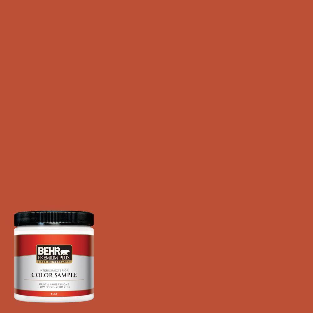 BEHR Premium Plus 8 oz. #S-G-200 Glowing Firelight Interior/Exterior Paint Sample