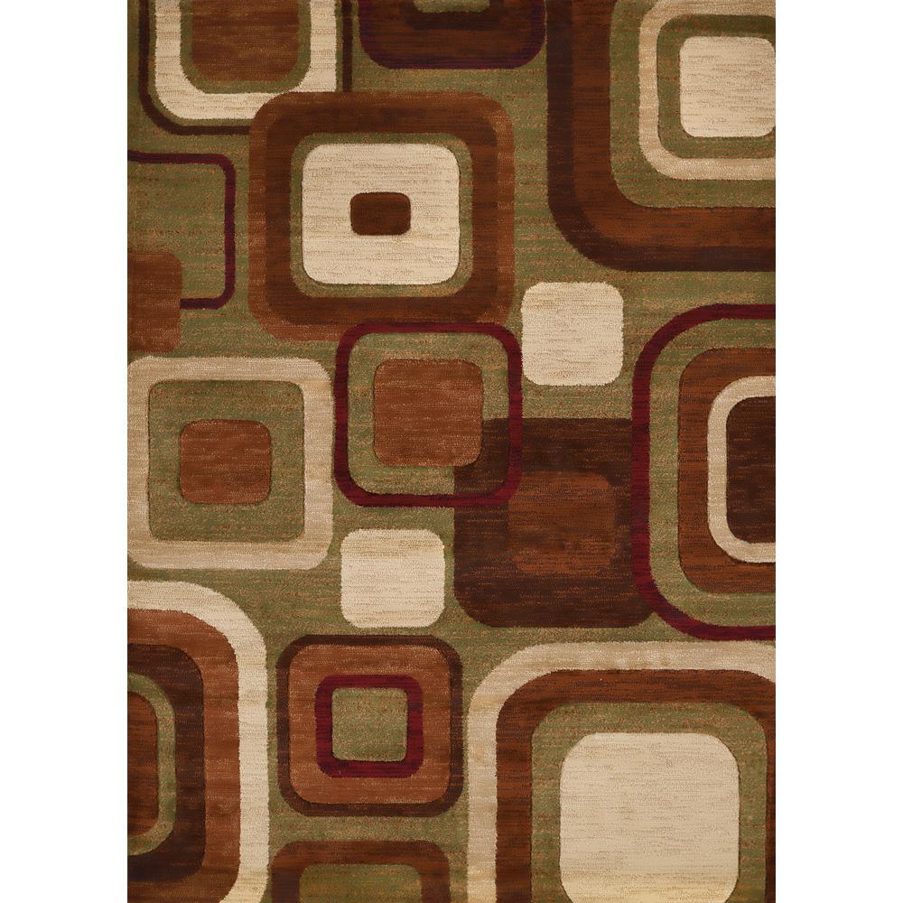 Studio Modem Brown 8 ft. x 11 ft. Indoor Area Rug