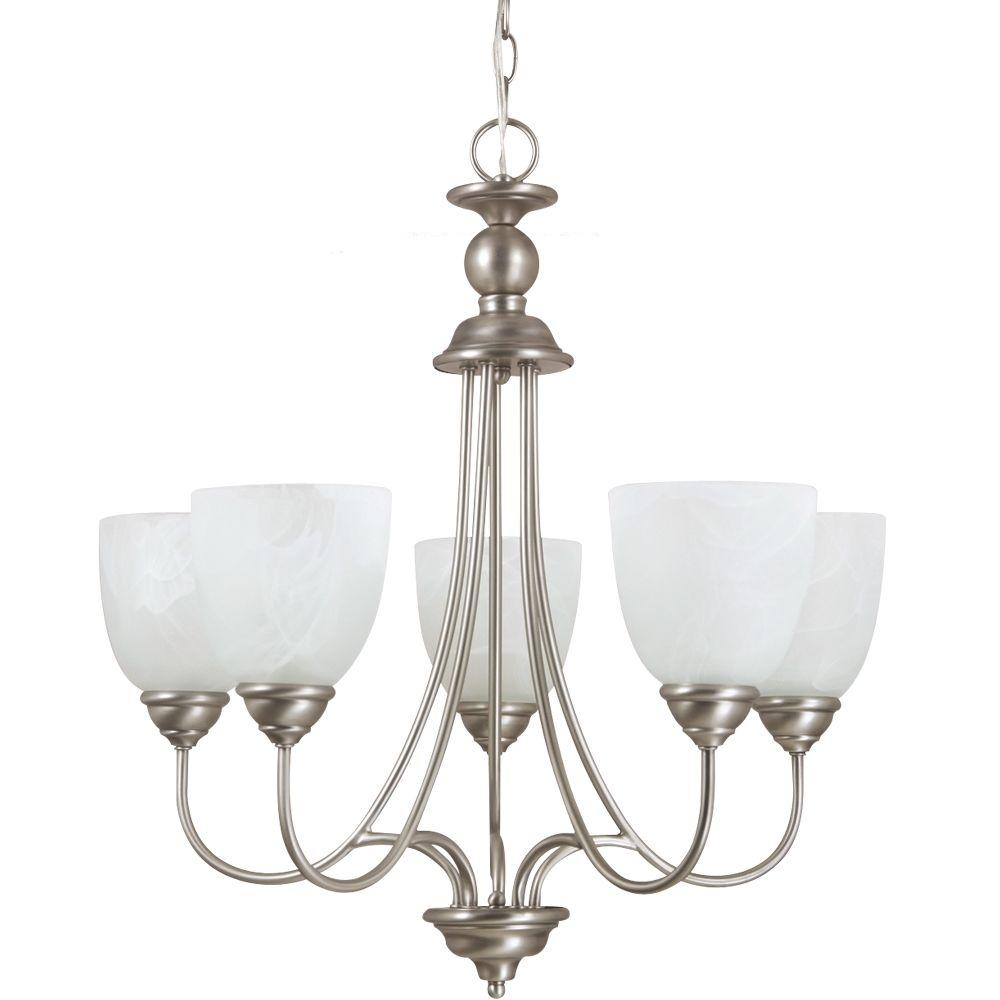 Lemont 5-Light Antique Brushed Nickel Single-Tier Chandelier