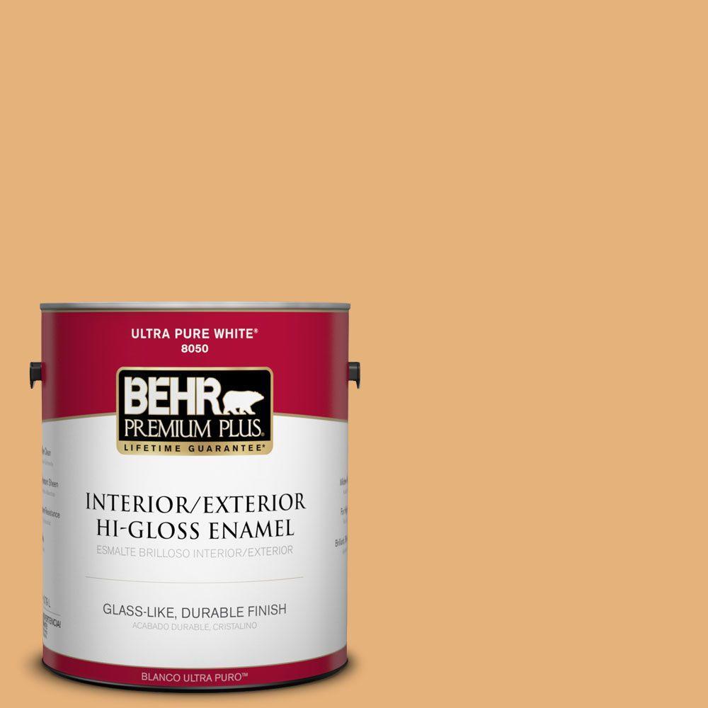 BEHR Premium Plus 1-gal. #300D-4 High Plateau Hi-Gloss Enamel Interior/Exterior Paint