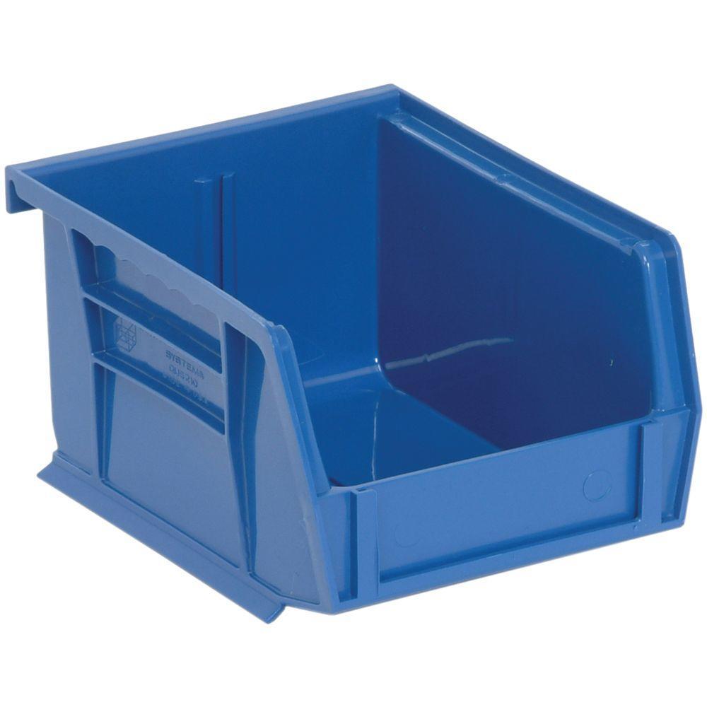 1.15-Qt. Stackable Plastic Storage Bin in Blue (24-Pack)
