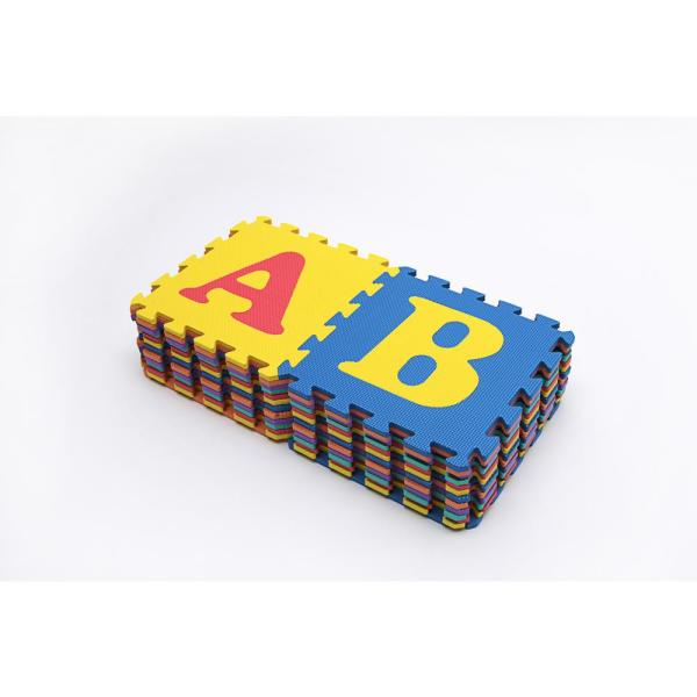 Multi-Color 12 in. x 12 in. x 0.43 in. ABC Playroom Floor (26-Pack)