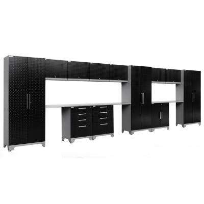 Performance Diamond Plate 2.0 72 in. H x 234 in. W x 18 in. D Garage Cabinet Set in Black (15-Piece)