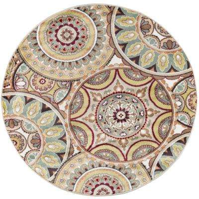 Deco Multi 7 ft. 10 in. Transitional Round Area Rug