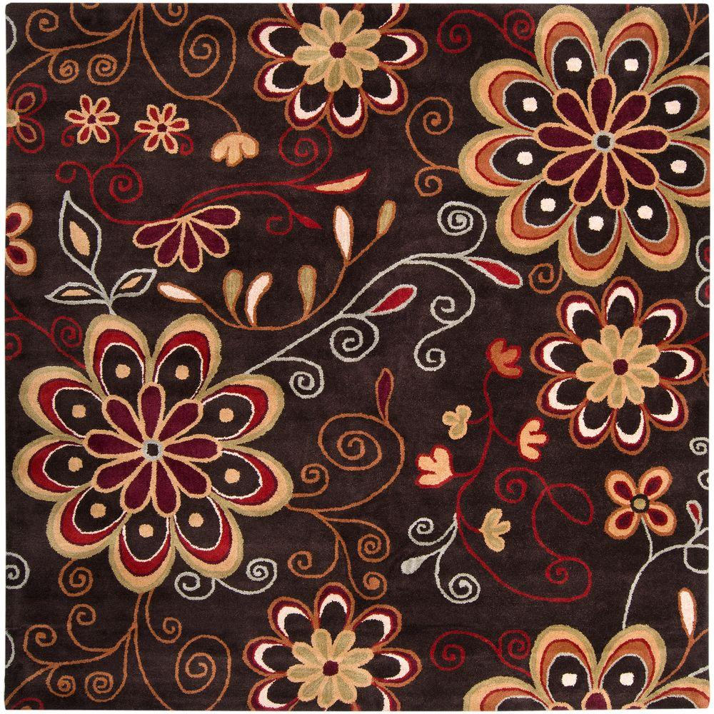 Artistic Weavers Sarah Brown 9 ft. 9 in. x 9 ft. 9 in. Square Area Rug