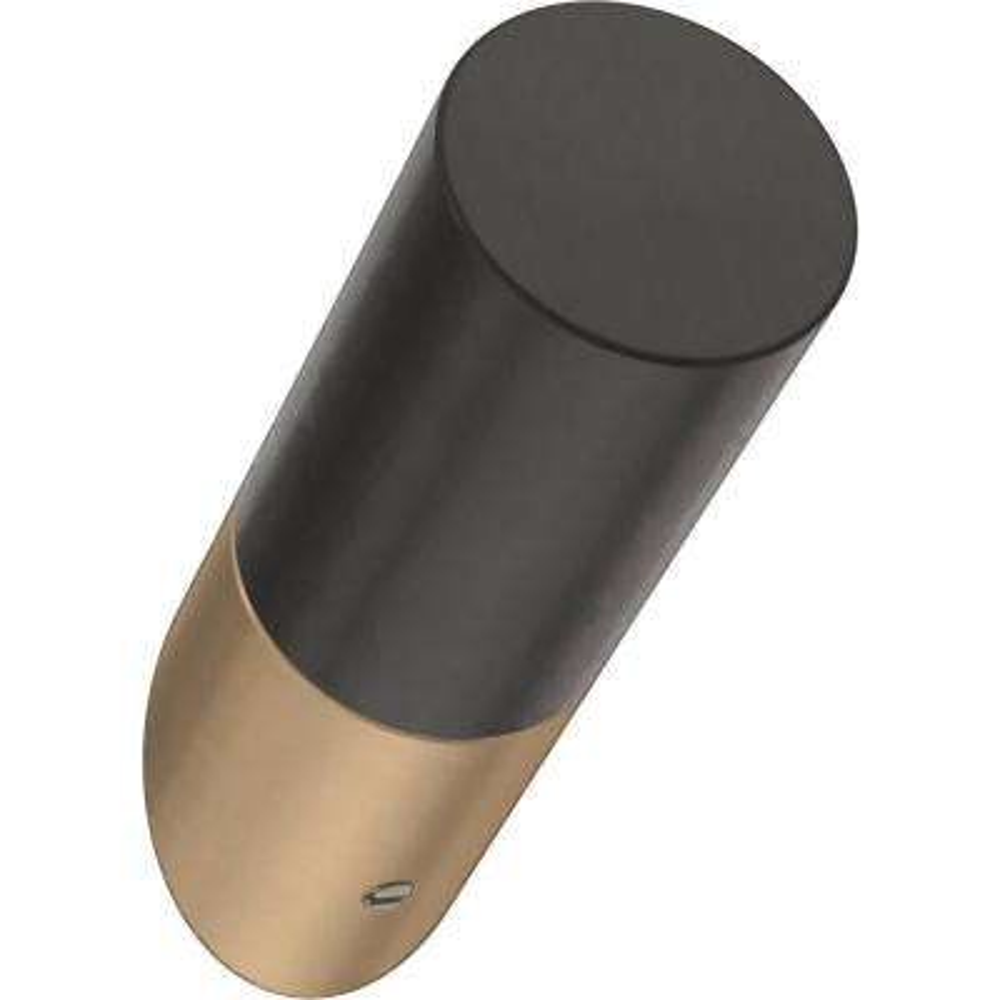 Modern Slant 2-1/4 in. Champagne Bronze and Black Single Prong Hook (5-Pack)