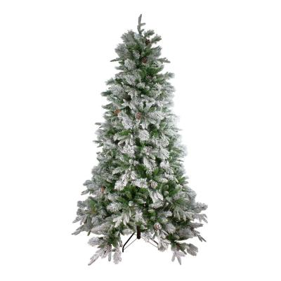 6.5 ft. Unlit Flocked Mixed Colorado Pine Artificial Christmas Tree