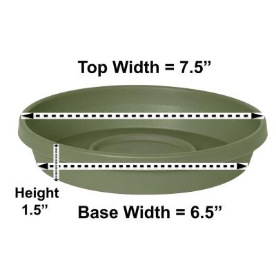 Terra 7.5 in. Living Green Plastic Plant Saucer Tray