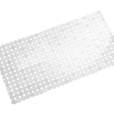 Orbz 26-1/2 in. x 13-3/4 in. Bath Mat in Clear
