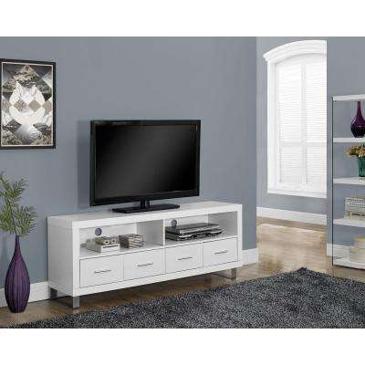 White Storage Entertainment Center