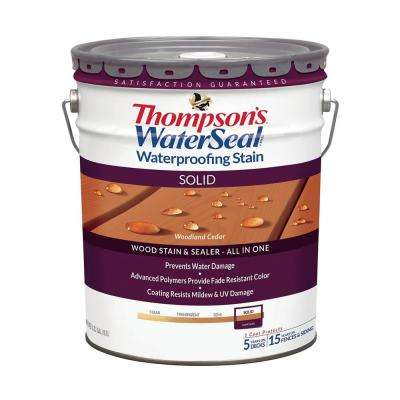 5 gal. Solid Woodland Cedar Waterproofing Stain Exterior Wood