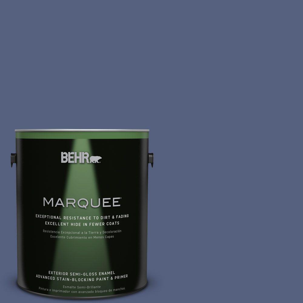 BEHR MARQUEE 1-gal. #MQ5-15 Award Night Semi-Gloss Enamel Exterior Paint