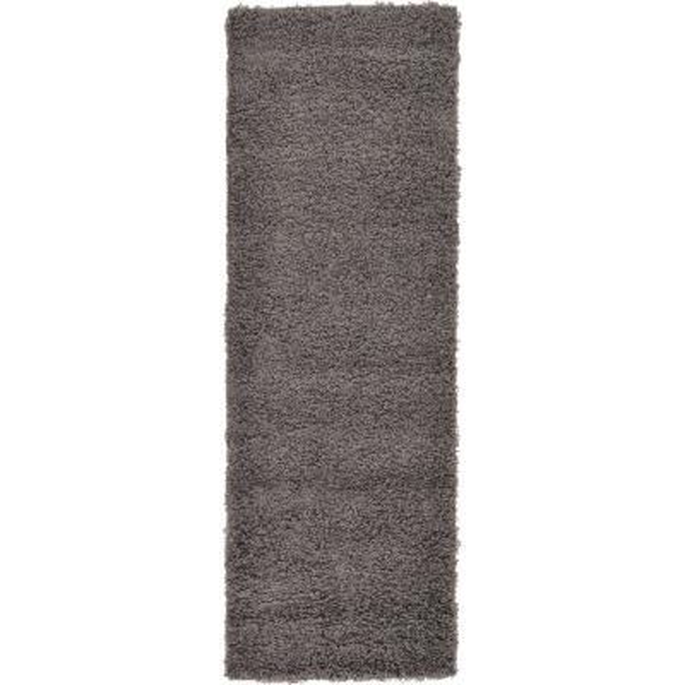 Solid Shag Graphite Gray 2' 2 x 6' 5 Runner Rug