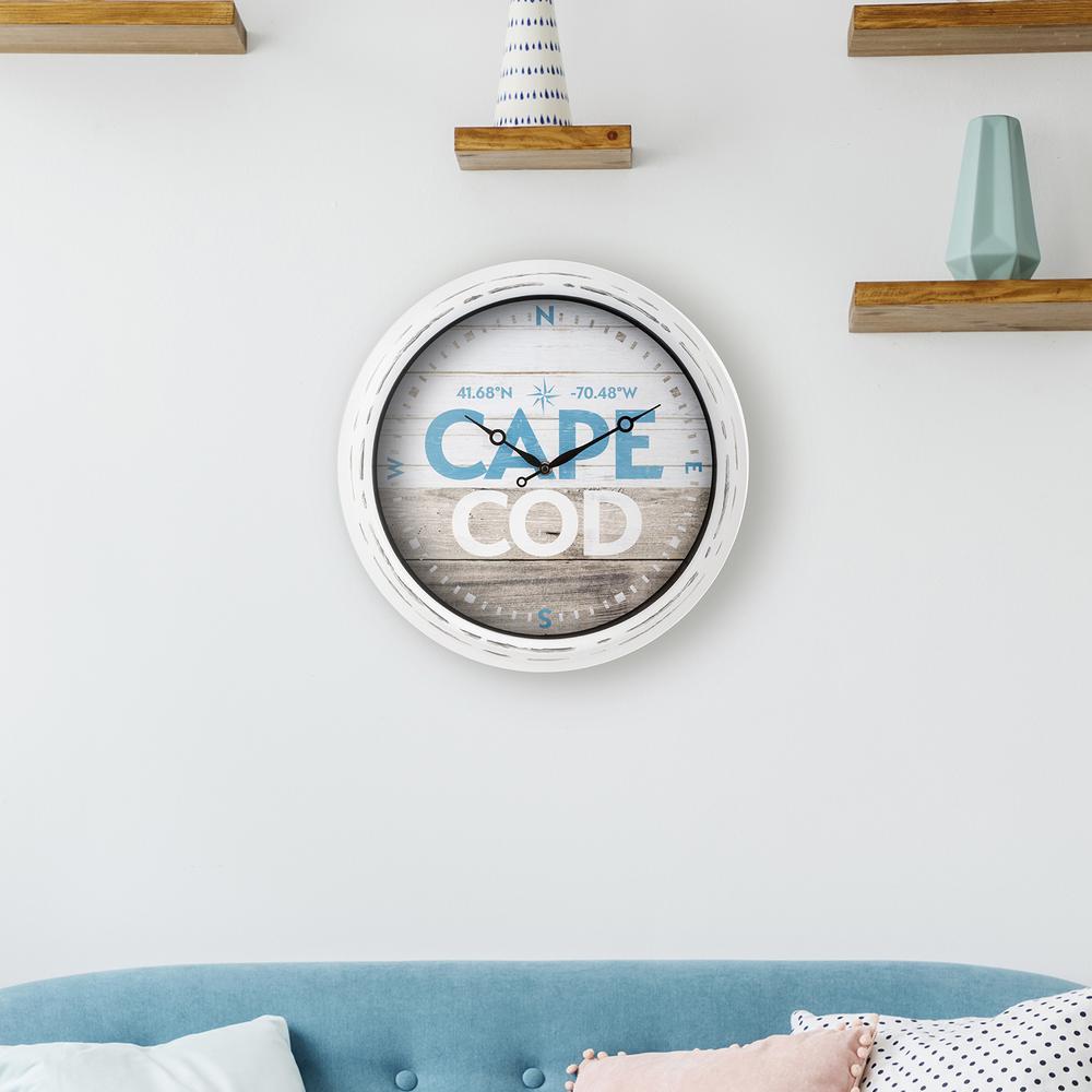 La Crosse Clock 404-3840MA 15.75 in. Indoor/Outdoor Quartz Wall Clock - Massachusetts