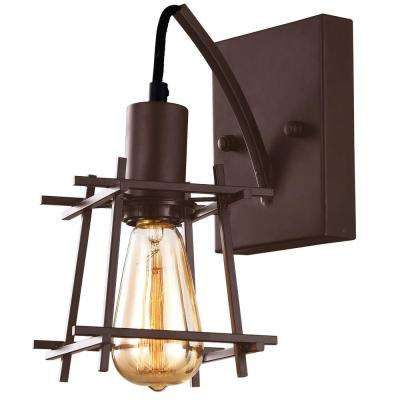 Hashtag 1-Light New Bronze Wall Sconce