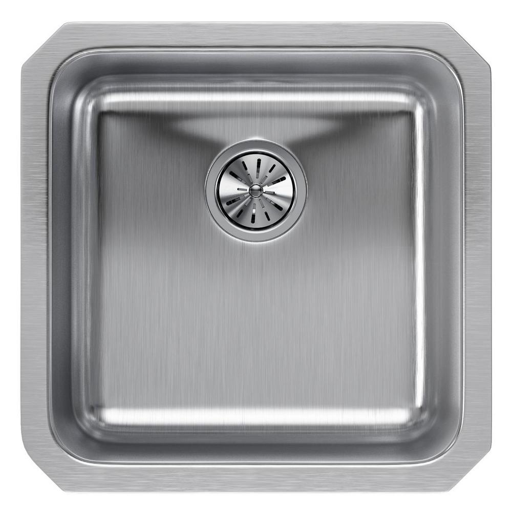 Elkay Lustertone ELUH1814 Single Bowl Undermount Stainless Steel Sink