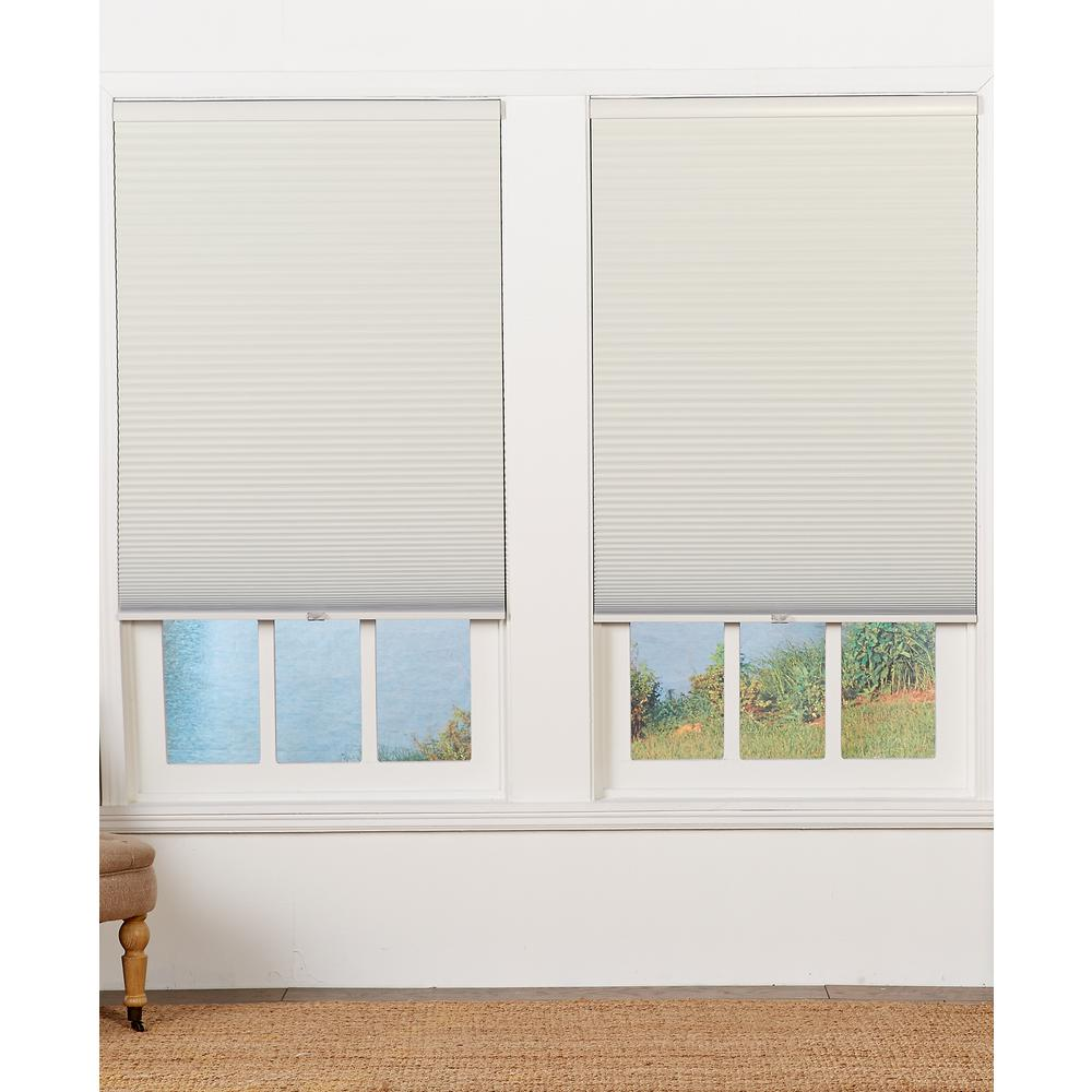 Perfect Lift Window Treatment Cut-to-Width Cream 1.5in. Blackout Cordless Cellular Shade - 60in. W x 48in. L (Actual size: 60in. W x 48in. L)
