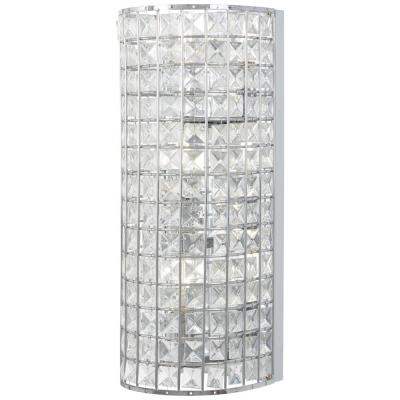Palermo 3-Light Chrome Wall Sconces with Clear Crystal Glass Shade