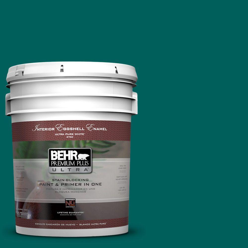 BEHR Premium Plus Ultra 5-gal. #S-H-490 Billiard Table Eggshell Enamel Interior Paint