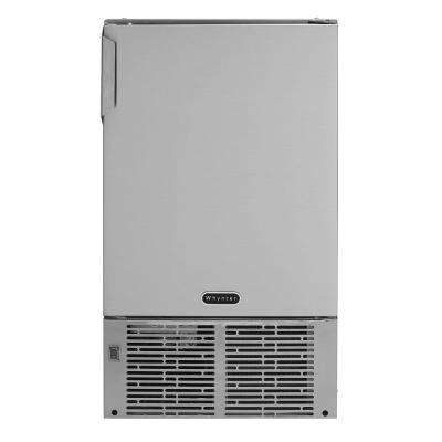 14 in. 23 lb. Output Built-In Marine Stainless Steel Automatic Ice Maker in Stainless Steel