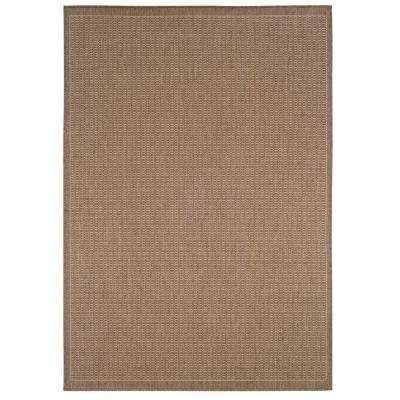 Saddlestitch Cocoa/Natural 6 ft. x 9 ft. Area Rug