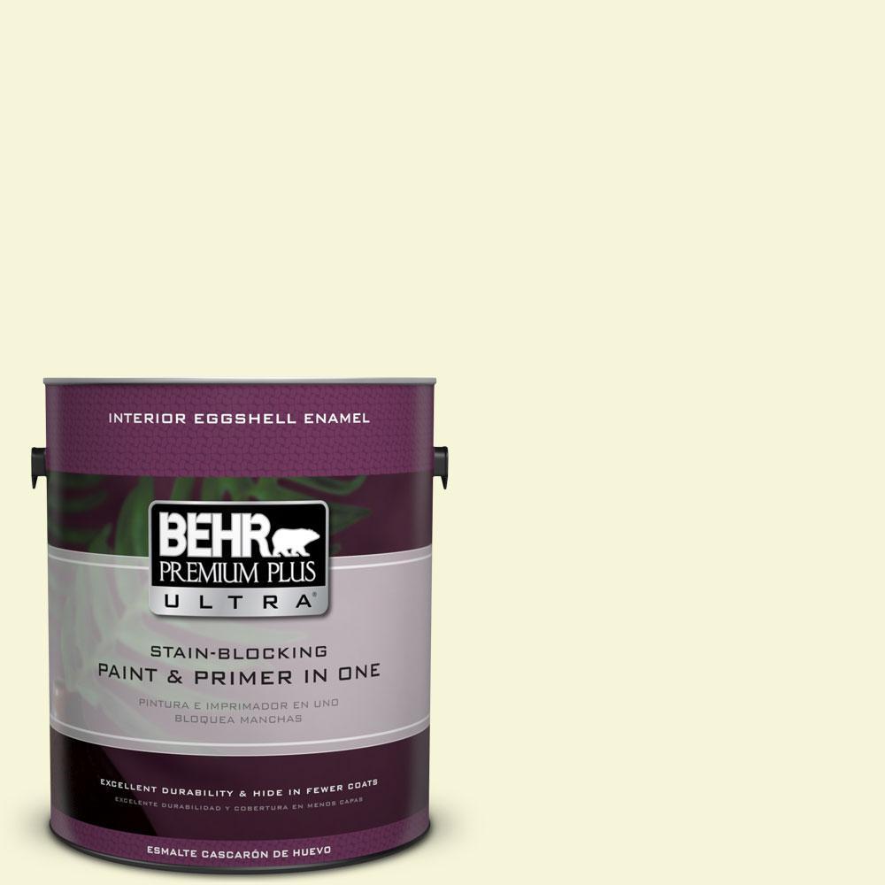 BEHR Premium Plus Ultra 1-gal. #PPL-10 Warm Sun Eggshell Enamel Interior Paint