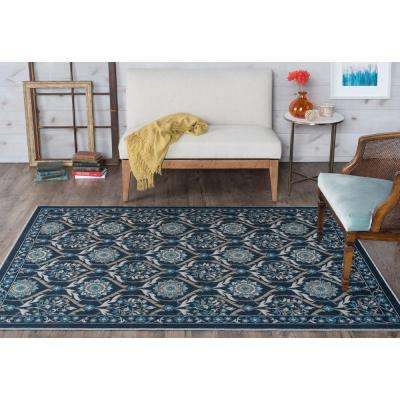 Majesty Navy 7 ft. 6 in. x 9 ft. 10 in. Transitional Area Rug