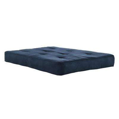 8 in. Independently Encased Coil Futon Mattress with CertiPUR-US Certified Foam in Navy