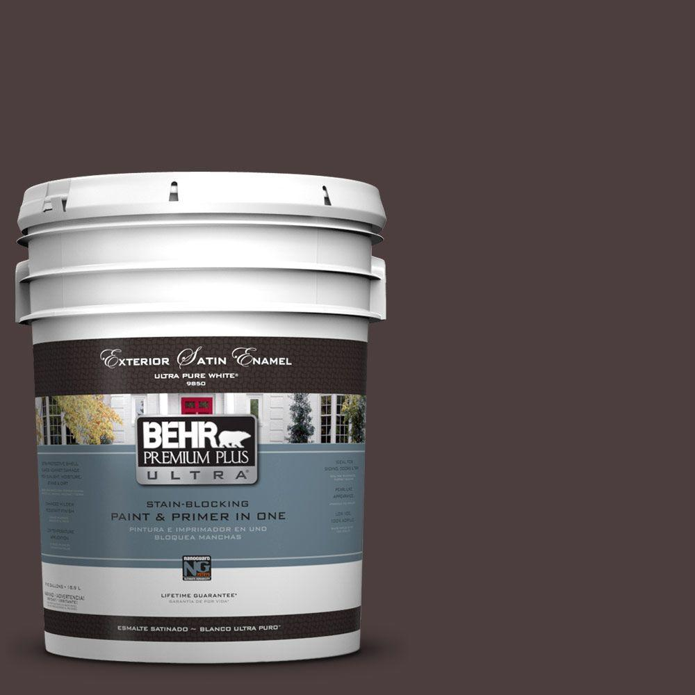 BEHR Premium Plus Ultra 5-gal. #UL110-23 Polished Leather Satin Enamel Exterior Paint