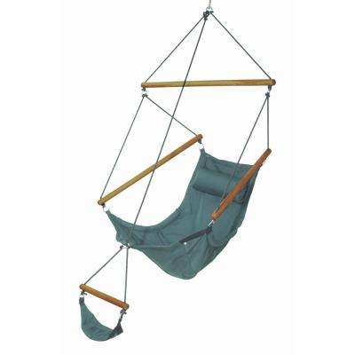 6 ft. 6 in. Polyester Hanging Chair with Foot Rest