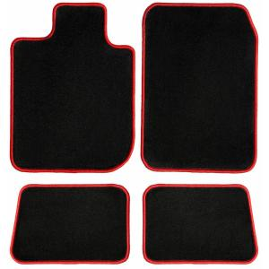 CFMBX1PM9211 Nylon Carpet Black Coverking Custom Fit Front and Rear Floor Mats for Select Plymouth Colt Models